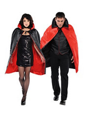 Adult Black & Red Reversible Vampire Cape