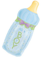 Foil It's a Boy Baby Bottle Baby Shower Balloon 31in