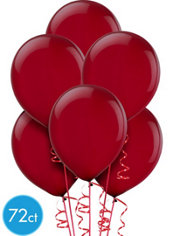 Burgundy Latex Balloons 12in 72ct