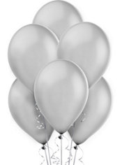 Silver Pearlized Latex Balloons 12in 72ct