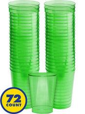 Transparent Kiwi Plastic Tumblers 72ct