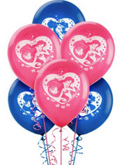 Latex Little Mermaid Balloons 12in 6ct