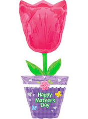 Happy Mother's Day Tulip Balloon 37in