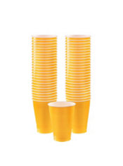 Sunshine Yellow Plastic Cups 50ct
