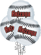 Arizona Diamondbacks Balloons 18in 3ct