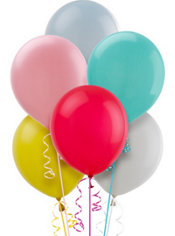 Assorted Pastel Latex Balloons 12in 15ct