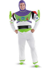 Adult Buzz Lightyear Costume Plus Size Deluxe - Toy Story