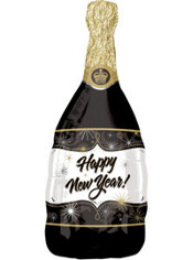 Foil Happy New Year Champagne Balloon 36in