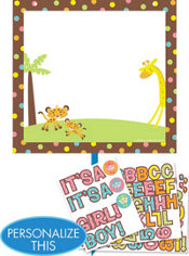 Personalized Fisher-Price Jungle Baby Shower Yard Sign Kit