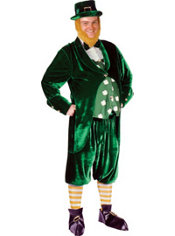 Adult St. Patricks Day Leprechaun Costume Deluxe