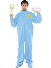 Adult Blue Pajama Baby Costume