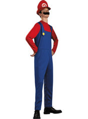Teen Boys Mario Costume - Super Mario Brothers