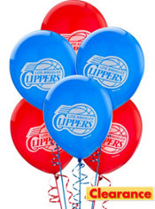 Los Angeles Clippers Balloon 6ct