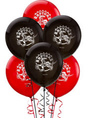 Toronto Raptors Latex Balloon 12in 6ct