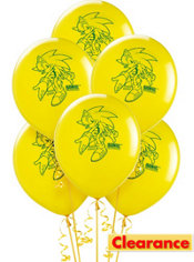 Latex Sonic Balloons 12in 6ct