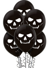 Latex Skeleton Balloons 12in 15ct