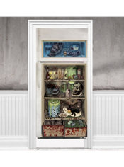 Halloween Refrigerator Door Cover 65in