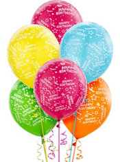 Latex Bright Confetti Printed Balloons 12in 20ct