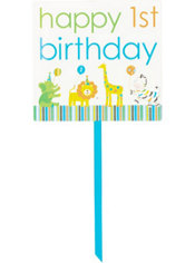 Blue Sweet at One 1st Birthday Yard Sign