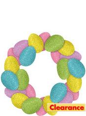Glitter Easter Egg Wreath
