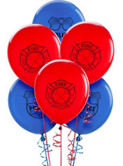 Latex Lego Balloons 12in 6ct