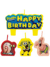 SpongeBob Birthday Candles 4ct