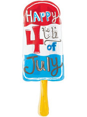 Foil Popsicle Patriotic Balloon 32in