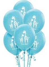 Baby Shower Balloons 15ct - Blue Safari