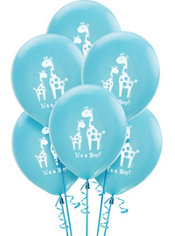 Blue Safari Baby Shower Balloons 15ct