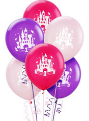 Latex Disney Princess 1st Birthday Balloons 15ct