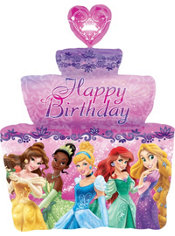 Foil Birthday Cake Disney Princess Balloon 38in