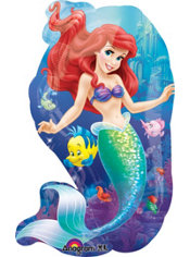 Foil Ariel Balloon 34in - Little Mermaid