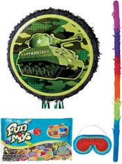 Pull String Camouflage Tank Pinata Kit