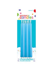 Tall Blue Birthday Candles 12ct