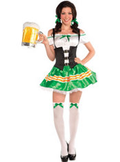 Adult Kiss Me Beer Maid Costume
