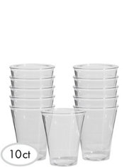 CLEAR Premium Plastic Highball Glasses 10ct