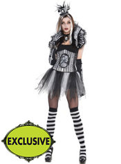 Adult Sassy Black & Bone Skeleton Costume