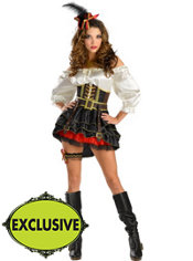 Adult Swashbuckling Sass Pirate Costume