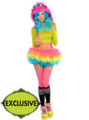 Adult Electric Party Raver Costume