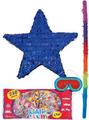 Foil Blue Star Pinata Kit