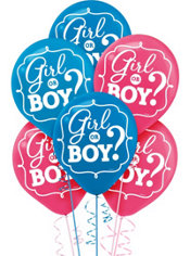 Girl or Boy Gender Reveal Balloons 15ct