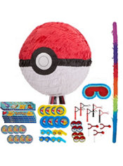 Pull String Pokeball Pinata Kit with Favors - Pokemon