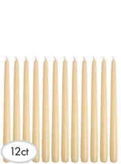 Cream Taper Candles 12ct