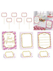 Pink Buffet Decorating Kit 12pc Party City