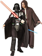 Deluxe Darth Vader and Deluxe Jedi Robe Star Wars Couples Costumes