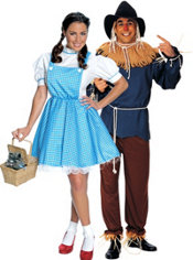 Dorothy and Scarecrow Wizard of Oz Couples Costumes