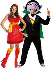 Sassy Elmo and The Count Sesame Street Couples Costumes