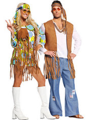 Retro Hippie and Right On Hippie Costume