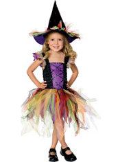 Toddler Girls Glitter Witch Costume