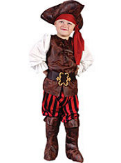 Toddler Boys High Seas Buccaneer Pirate Costume